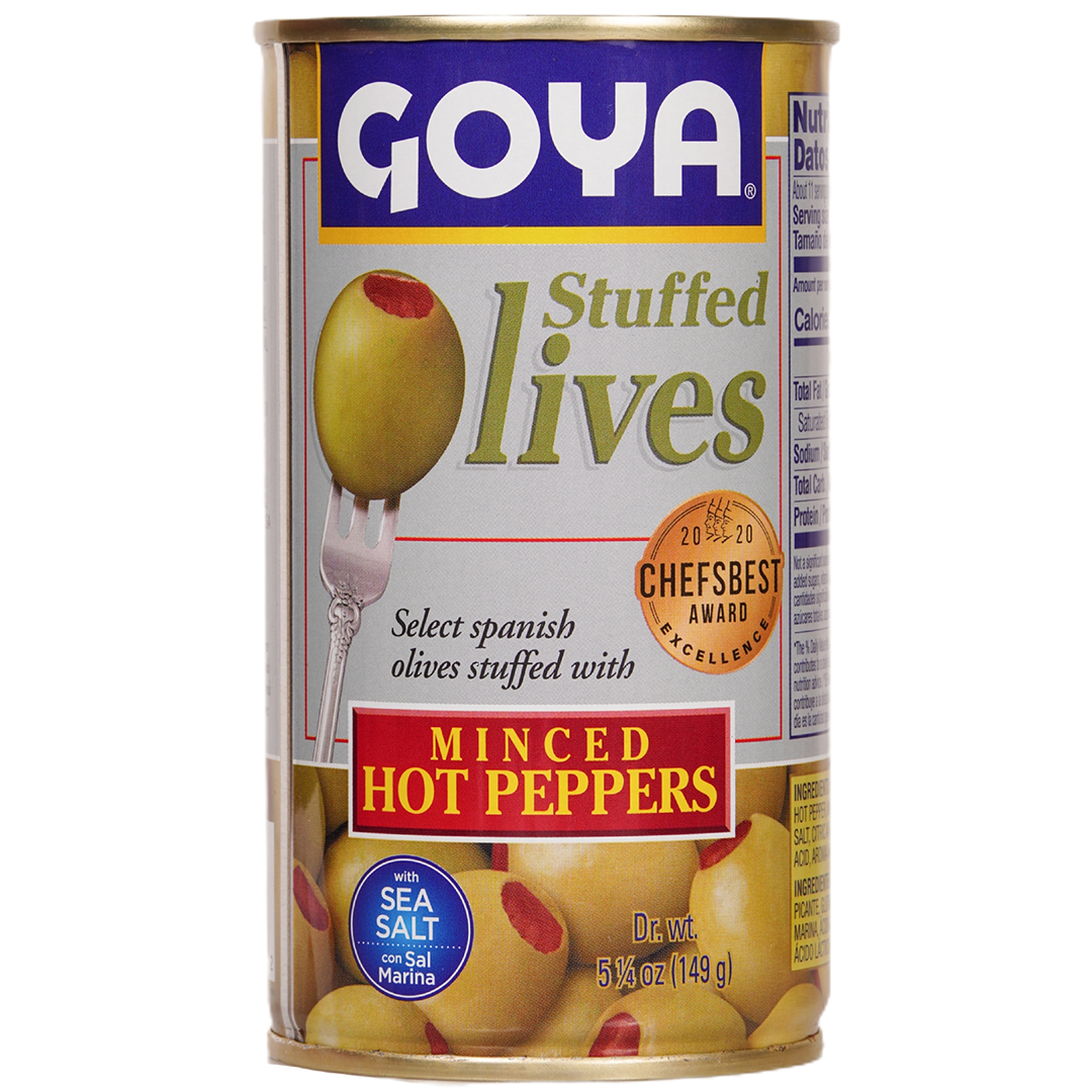 Goya Stuffed Olives Minced Hot Peppers